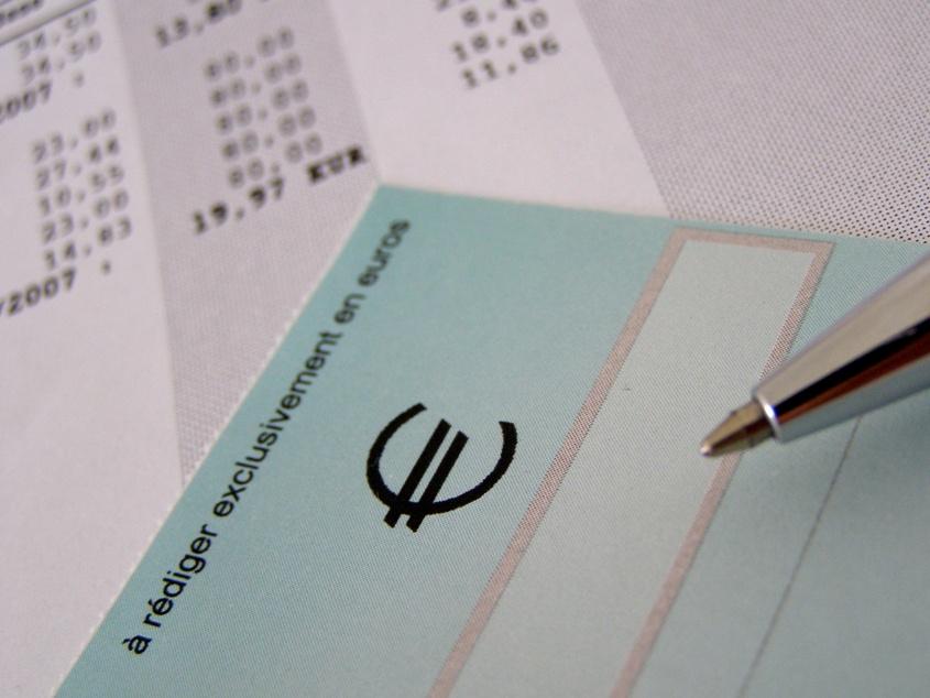 cheque stylo et facture